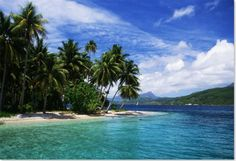 Tonga Küste goldener Sand blaues Wasser