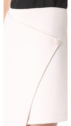 Kaelen Neoprene Wrap Skirt, $335
