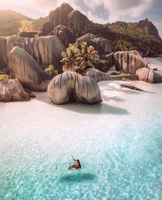 Mermaid-Approved: 10 Enchanting Places With the Clearest Water in the World Mermaid-Approved: 10 Enchanting Places With the Clearest Water in the World,Dream vacation spots 10 Dreamy Destinations With the Clearest Water in the World. Vacation Places, Dream Vacations, Oh The Places You'll Go, Places To Visit, Seychelles Islands, Seychelles Beach, Seychelles Honeymoon, Seychelles Africa, Vacation