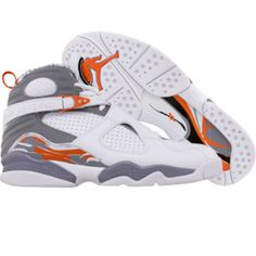 official photos e8f97 56dd2 Air Jordan VIII White orange silver Tenis, Jordan Shoes, Air Jordans,