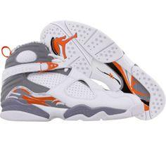 Air Jordan VIII White/orange/silver#Repin By:Pinterest++ for iPad#