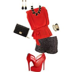 """""""Hot Pants"""" by chickadeecathlyn on Polyvore"""