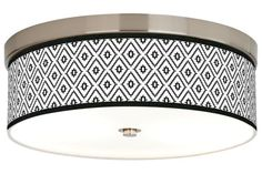 Diamonds Giclee Energy Efficient 14-Inch-W Ceiling Light