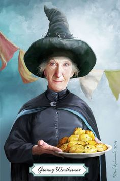 """2019 Granny Weatherwax """"The Sea and Little Fishes"""". By Peter Stan Fantasy Books, Fantasy World, Discworld Characters, Terry Pratchett Discworld, Little Fish, Neil Gaiman, Book Cover Art, Illustrations, Character Portraits"""