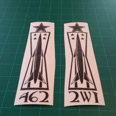 Weapons 462 2w1 2 Colors Vinyl Decals Pinterest