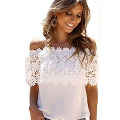 lace plus size peasant boho top cold shoulder - Google Search