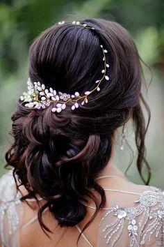 Long Wedding Hairstyles & Bridal Updos via Evgeniya Lebedeva