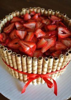 strawberry cake.