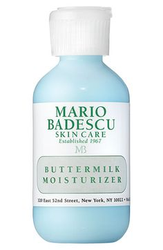 Free shipping and returns on Mario Badescu Buttermilk Moisturizer at Nordstrom.com. You will love the lightweight texture of this softening, daily moisturizer. Contains naturally exfoliating alpha-hydroxy acids and skin-soothing botanical ingredients for minimizing fine lines and wrinkles and revitalizing dull, uneven skin.
