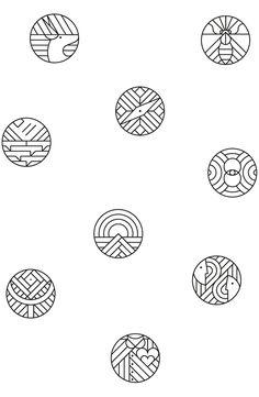 credera ux iconography on Behance 2 Logo, Typography Logo, Typography Design, Graphisches Design, Icon Design, Flat Design, Impression Textile, Typographie Inspiration, Magazin Design