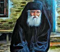 Salutary sayings of Saint Paisios of mount Athos Gods Love, Christianity, Painting, Fictional Characters, Prayers, Faith, Love Of God, Painting Art, Paintings
