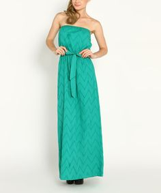 So cute - Jade Eyelet #Chevron Strapless #Maxi Dress by Marineblu #zulilyfinds