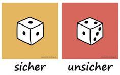 sicher unsicher Adjektive Deutsch deutschlernerblog