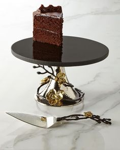 Gold Orchid Cake Stand & Server by Michael Aram