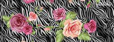 Zebera Black and White Roses Facebook Cover CoverLayout.com