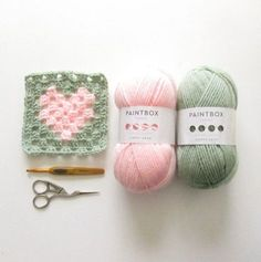 Heart Granny Square - Free pattern by Emma from Steel & Stitch @ Love Crochet blog