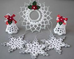 Crochet Christmas ornaments Set of 6 от SevisMagicalStitches