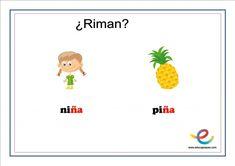 Fichas de lenguaje para primaria: ¿Qué rima con? Speech Pathology, User Experience, Lyrics