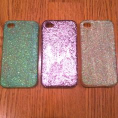 DIY Mod Podge & Glitter iPhone Cases