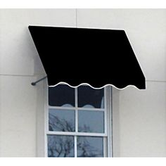 awning for outside - black and white stripes