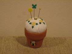Flower Pot Pincushion. One of my favorites that I've made.