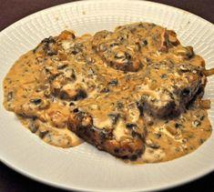 Slow Cooker Pork Chops, Mushroom Sauce, for two - perfect for a smaller slow cooker Small Slow Cooker, Slow Cooker Pork, Slow Cooker Recipes, Cooking Recipes, Healthy Recipes, Thm Recipes, Healthy Food, Dinner Recipes, Pork Tenderloin Recipes