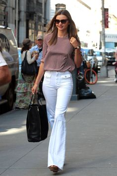 Miranda Kerr and others show how to perfect the flare pant look this season.