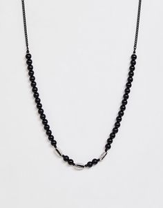 Shop the latest Icon Brand beaded neck chain in black trends with ASOS! Asos Men, Neck Chain, Beaded Necklace, Black, Jewelry, Fashion, Beaded Collar, Jewlery, Moda