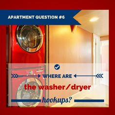 Where are the #washer & #dryer hookups? Be sure to ask this & all the right questions before #renting an #apartment!