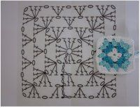 Háčkovaný čtvereček Xmas, Shoulder Bag, Blog, Beautiful, Granny Squares, Patterns, Flowers, Bed Covers, Christmas