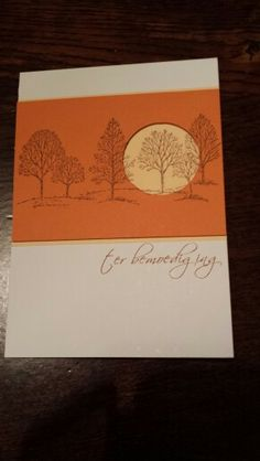Kaart ter bemoediging, lovely as a tree stamps, stampin up, simpathy card.