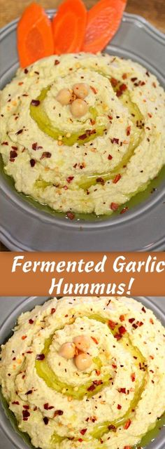 Fermented Garlic Hummus! You can make this amazing raw, and probiotic filled hummus using fermented garlic cloves!  ~Cultured Food Life