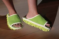 Slip on these mopping slippers and dance your way to clean floors.