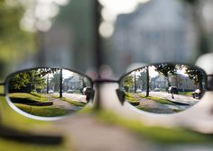 This picture represents the term 'myopic' in two ways. It is an example of myopia, or nearsightedness; it is also representative of being narrow-minded, seeing only a small part of the big picture. Round Sunglasses, Mirrored Sunglasses, Health Research, Mental Health, Visualisation, The More You Know, Abstract Photography, Plein Air, Big Picture