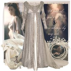 A fashion look from August 2013 featuring inspirational home decor, antiqued mirror and flapper shoes. Browse and shop related looks. Ever After, Lotr, Style Inspiration, Costumes, Chic, Wedding Dresses, Cyber Punk, Amelie, How To Wear