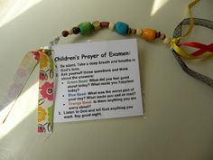 Yes! I love this cute little examen prayer for kiddos.