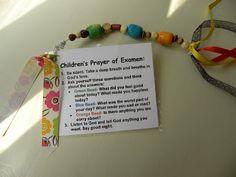 Yes! I love this cute little examen prayer for kiddos.