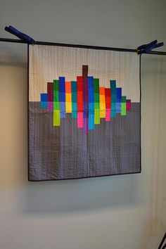 city reflection quilt by greenleaf goods, via Flickr