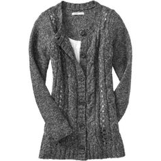 Charlotte Russe Ivory Slouchy Cable Knit Cardigan Sweater by ...