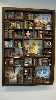 Miniature medical-themed bookcase/library with INCEPTION MINI DOCTORs OFFICE!! From bagusitaly on etsy, who is clearly a master of this craft!