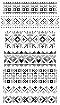 Thrilling Designing Your Own Cross Stitch Embroidery Patterns Ideas. Exhilarating Designing Your Own Cross Stitch Embroidery Patterns Ideas. Fair Isle Knitting Patterns, Fair Isle Pattern, Knitting Charts, Knitting Stitches, Border Embroidery, Learn Embroidery, Cross Stitch Embroidery, Embroidery Patterns, Geometric Embroidery