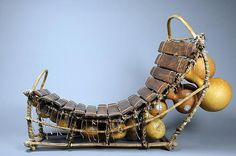 an elong (gourd-resonated xylophone), mid-20th century, from  burkina faso