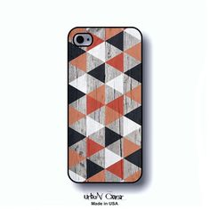 Wooden print phone case iPhone 5 geometric phone by UrbanCover