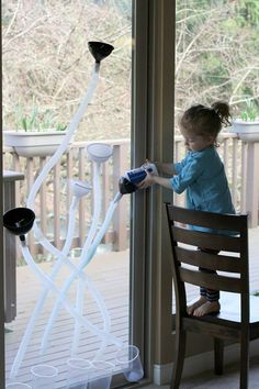Indoor or Outdoor Fun with Funnels and Tubes #SuliaMoms