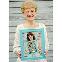 this might be cute to do w/ a picture of Emma w/ grandmommy, you and your mom