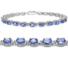 Tanzanite Tennis Bracelet Crafted in Sterling Silver( 7 1/4 inch) - CHECK OUT @ http://www.ilikeboutique.com/boutique/tanzanite-tennis-bracelet-crafted-in-sterling-silver-7-14-inch/?a=6679
