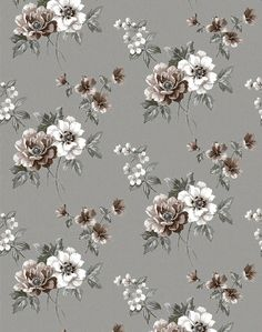 Ditsy Floral Pattern on Behance Vintage Flowers Wallpaper, Floral Pattern Wallpaper, Flower Wallpaper, Flower Pattern Design, Floral Printables, Ditsy Floral, Paper Background, Print Patterns, Decoupage
