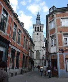 """St John Church in the Old center of Namur (Belgium). Le clocher de l'église St-Jean, ou comme on l'appelle à Namur """" Li Vî Clotchî d' Sint-Djan"""""""