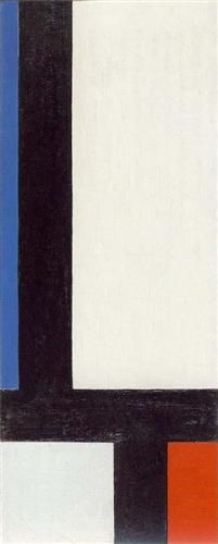 Contra-Composition VII   Artist: Theo van Doesburg (1883-1931) Completion Date: 1924 Place of Creation: Germany Style: Neoplasticism Genre: abstract Technique: oil Material: canvas Dimensions: 52 x 21.5 cm Gallery: Musée des Beaux-Arts, Grenoble, France