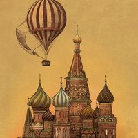 """""""Moving to Moscow - redux"""" by Terry Fan at society6.com"""